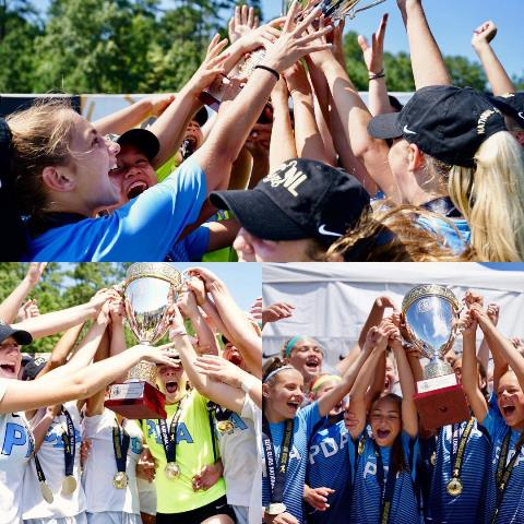 PDA Girls ECNL teams win 3 National Championships in 2019
